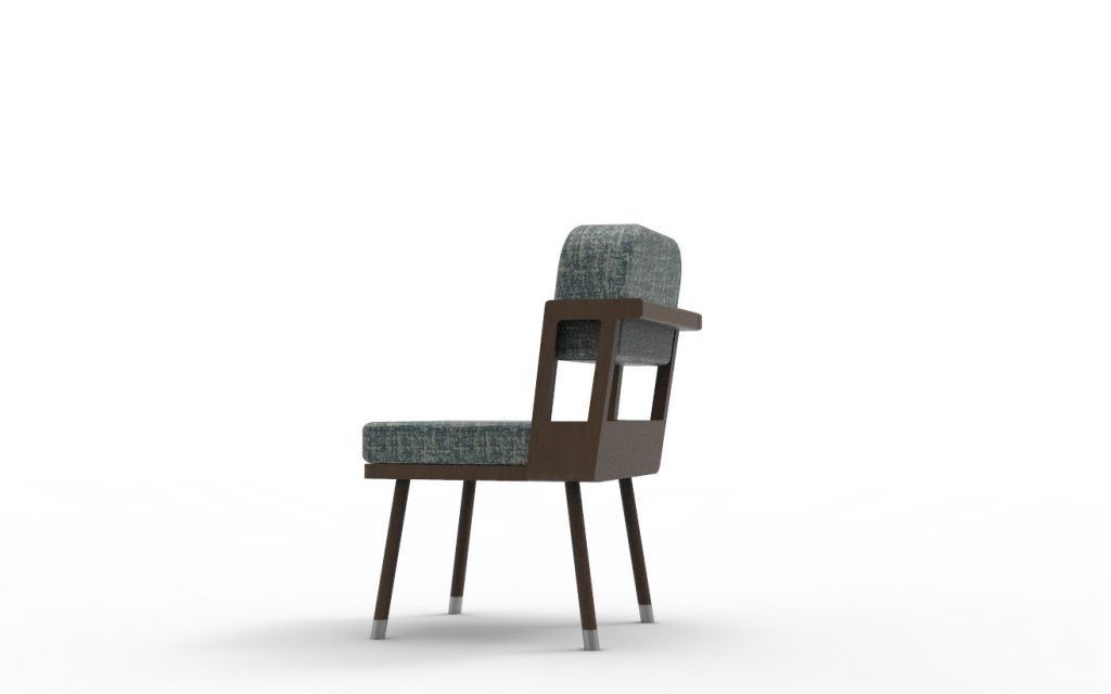 This Dining Chair in Eucalyptus Wood has been designed by Annette Wernick